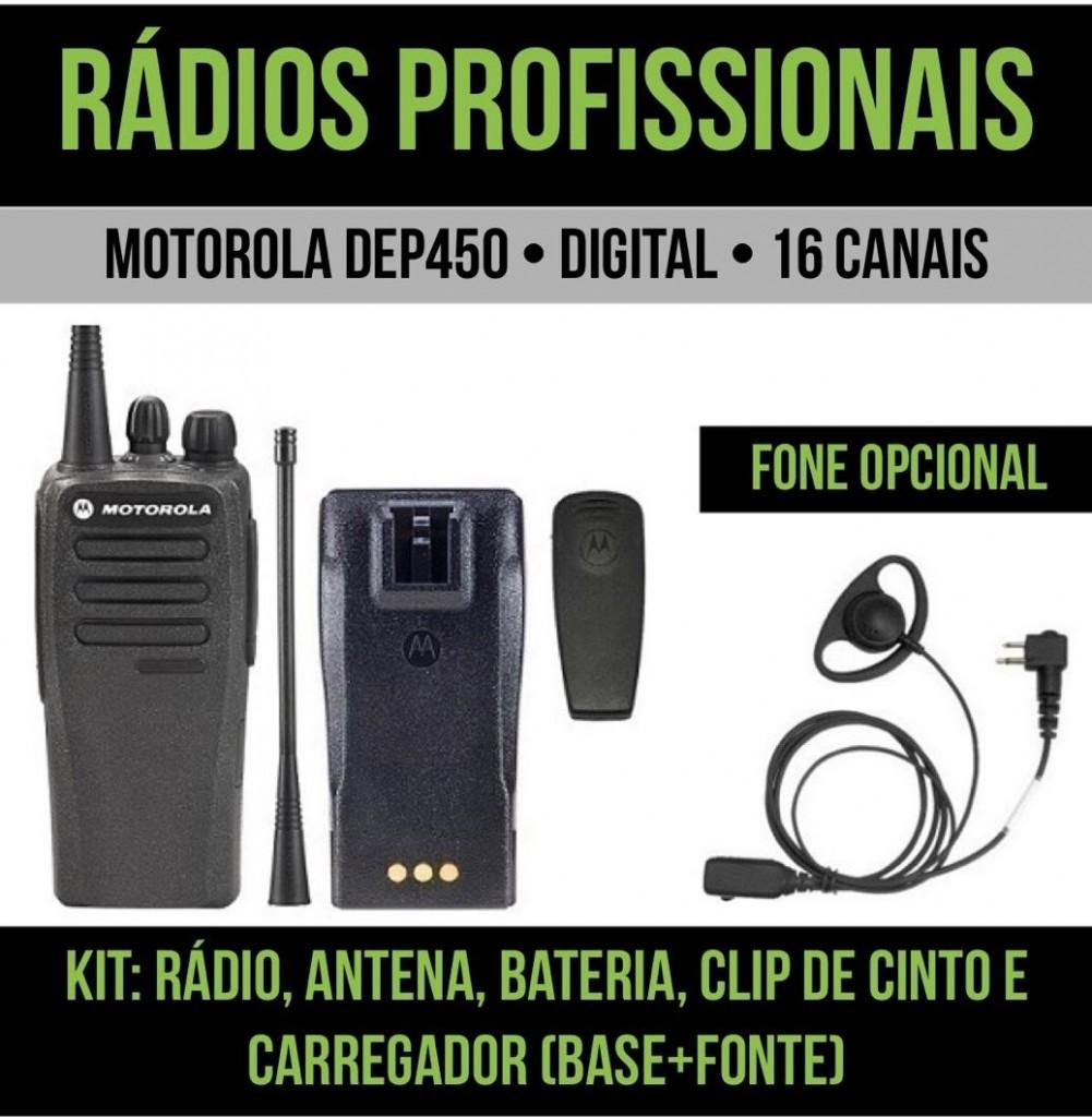 Rádio Motorola DEP450 para eventos