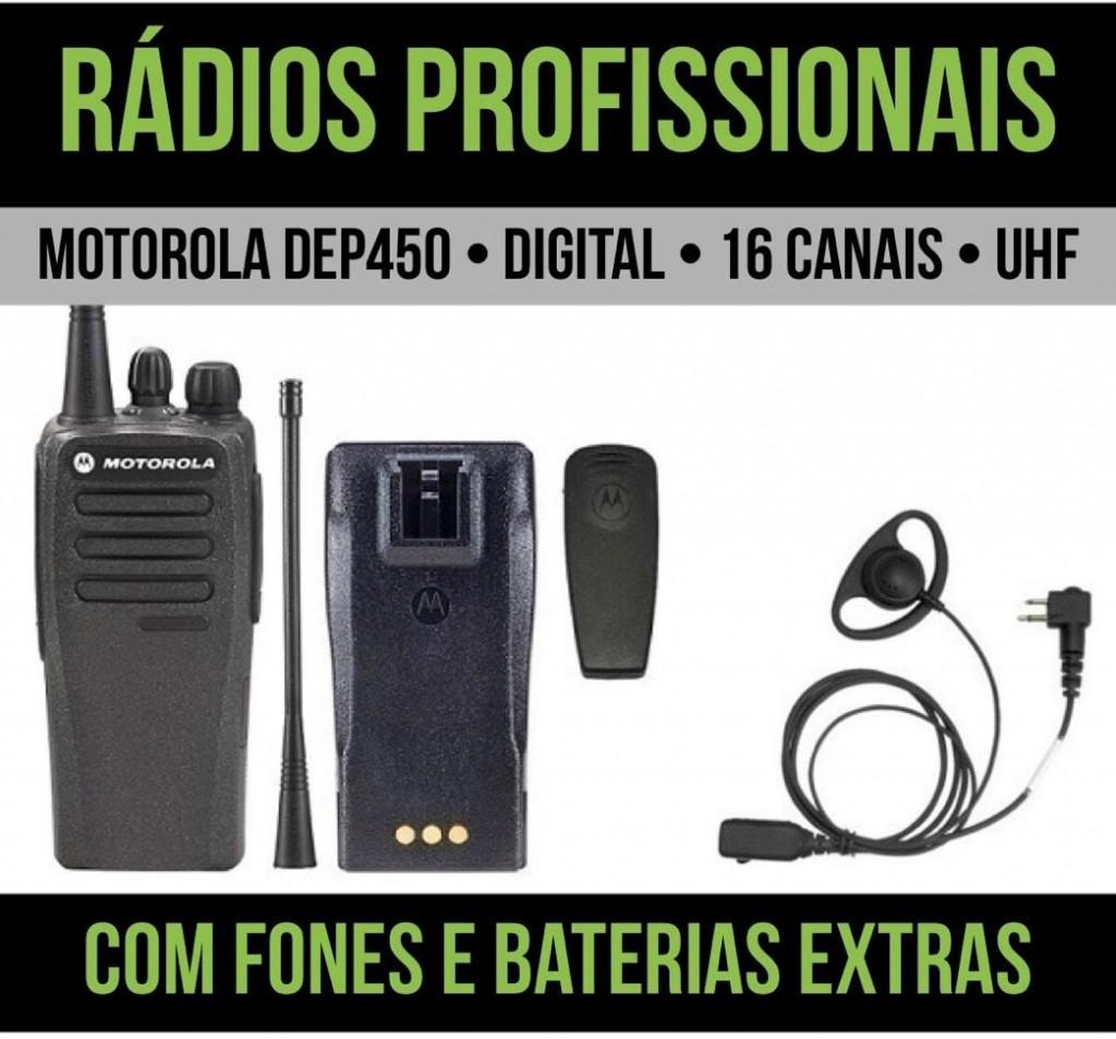 Locação diária de rádios