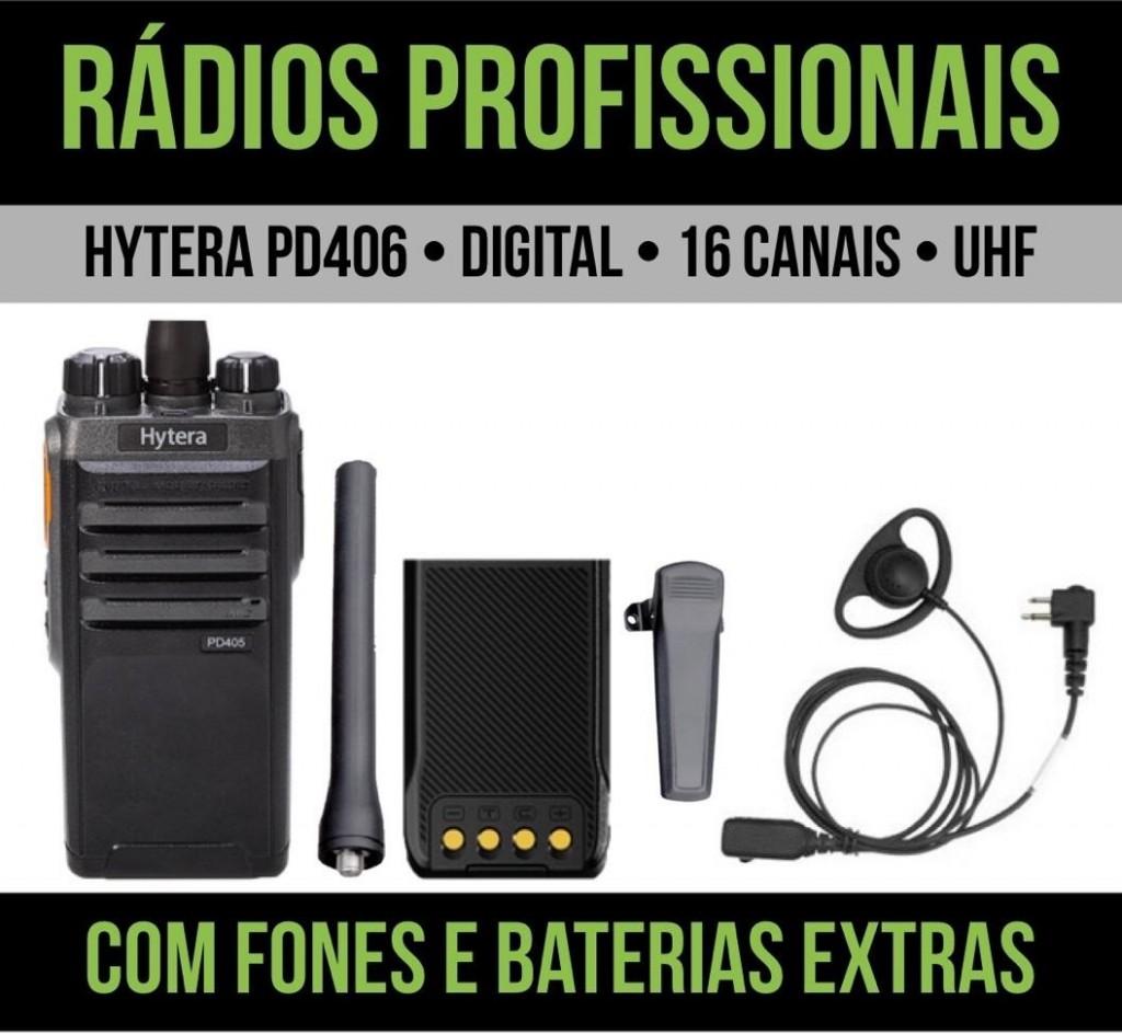 Locação diária de rádios - Hytera PD406