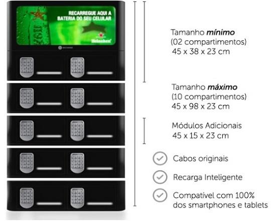 Powerbox estação de recarga de celular
